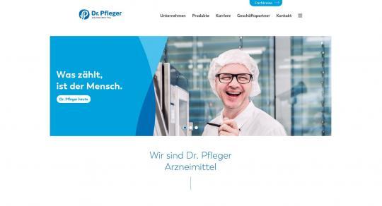 Dr. Pfleger Arzneimittel: Neuer Auftritt mit neuer Homepage